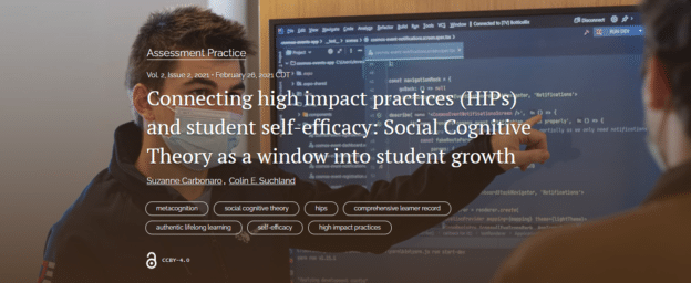 Publication Alert AALHE Intersection! Connecting High Impact Practices (HIPs) to Student Self-Efficacy